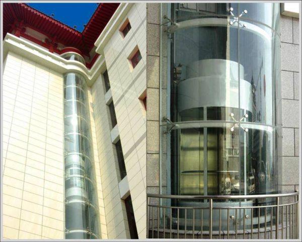 cấu tạo thang máy kính hiện đại