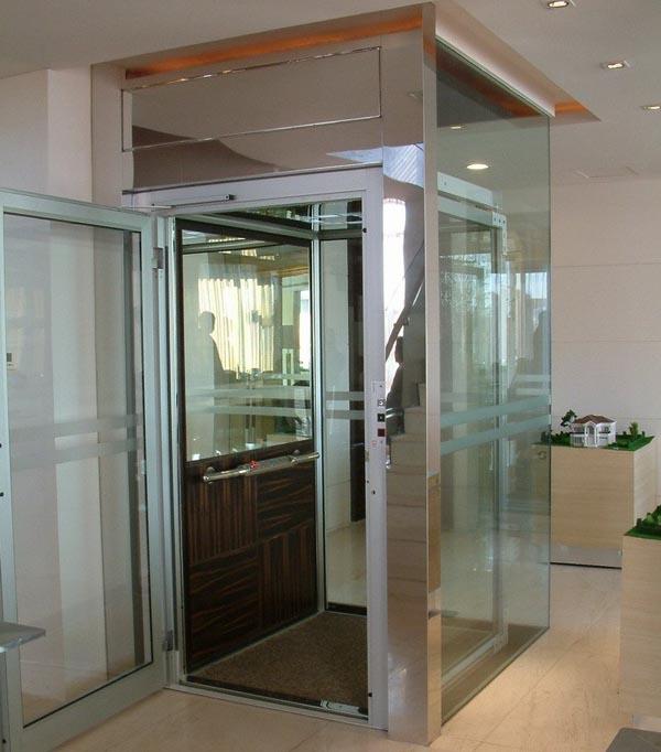 thang máy kính gia đình hiện đại