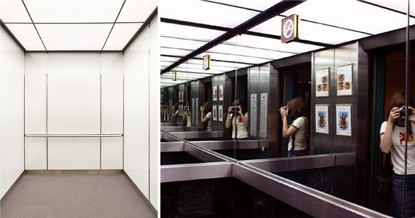 gương trong thang máy