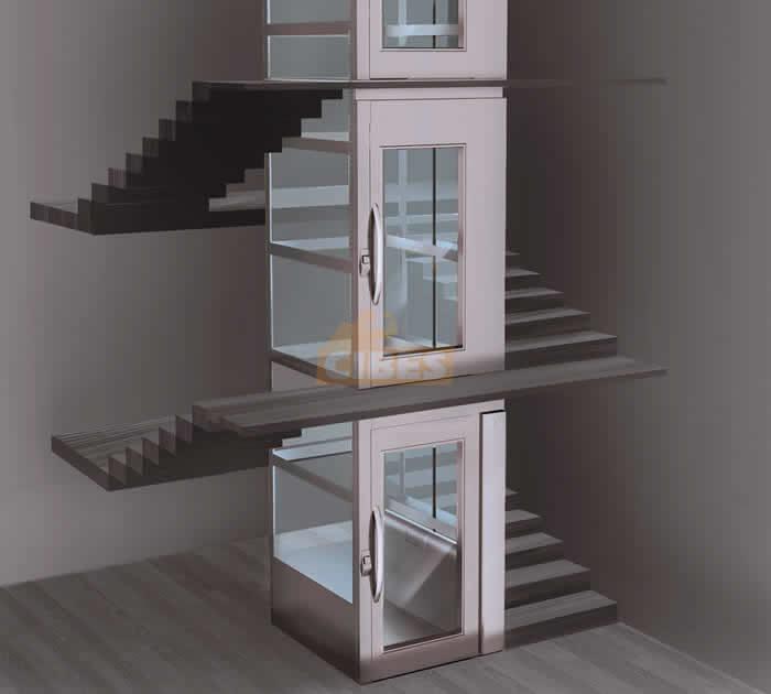 Cấu tạo thang máy trục vít