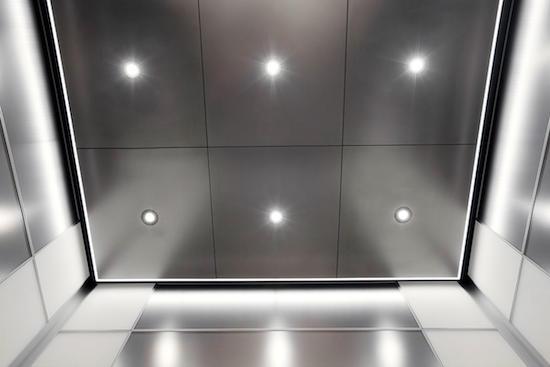 Trần thang máy gia đình loại đơn giản