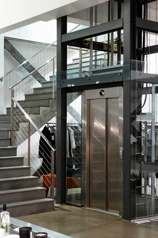 Hố thang máy khung thép