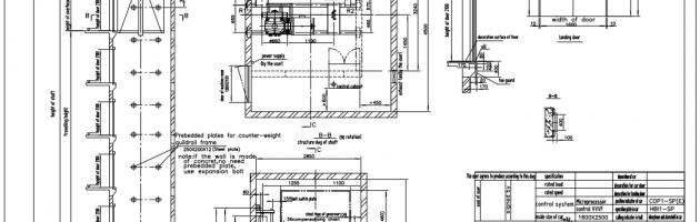 kích thước thang máy mitsubishi 450kg
