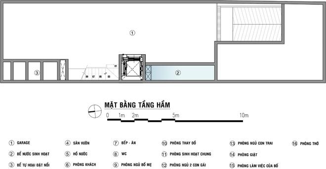 Thiết kế tầng hầm thang máy cho nhà liền kề