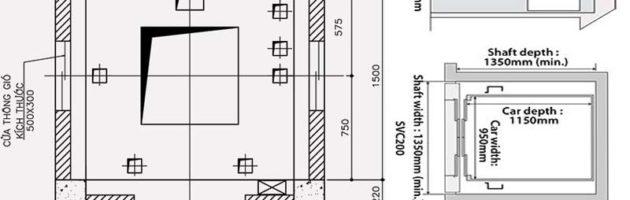 Thiết kế thang máy gia đình Mitsubishi