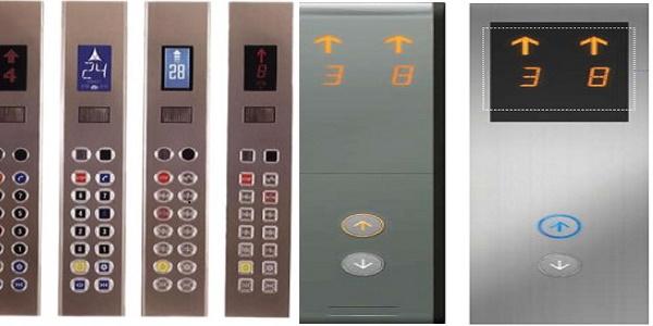Button tầng của thang máy gia đình