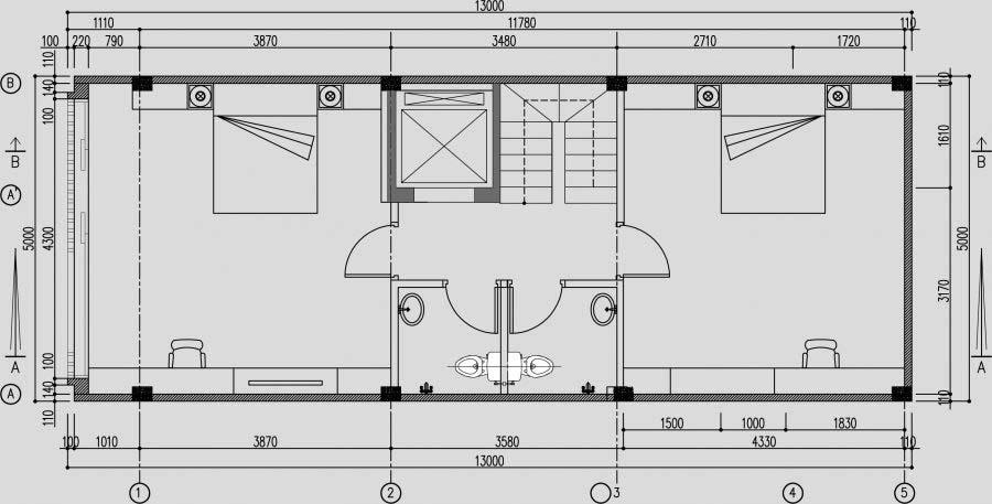 thiết kế thang máy gia đình cạnh thang bộ